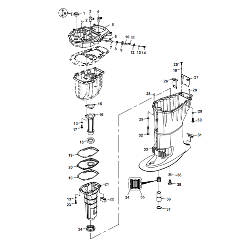 Parsun Outboard Engine F40 Upper Casing Parts