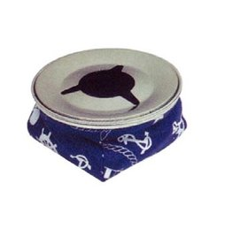 Golden Ship Stainless steel ashtray red or blue