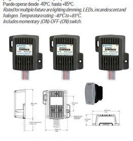 Digital dimmers 10 tot 32 V.DC systemen