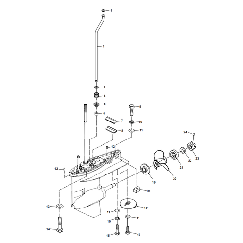 Parsun Buitenboordmotor F40 Lower Casing & Drive 2 Onderdelen