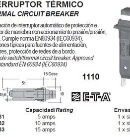 1110 THERMAL CIRCUIT BREAKER 5-15 amp