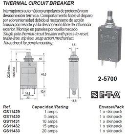 2-5700 THERMAL CIRCUIT BREAKER 1-30Amp