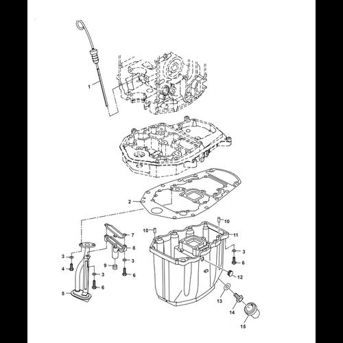 Parsun Buitenboordmotor F40 Oil Pan Onderdelen