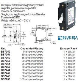 MAGNETIC CIRCUIT BREAKER Serie C 5-100 amp