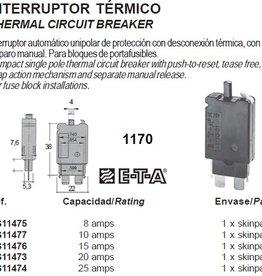 THERMAL CIRCUIT BREAKER 8-25 amp