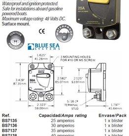 THERMAL CIRCUIT BREAKER voor opbouw montage 25-150 amp