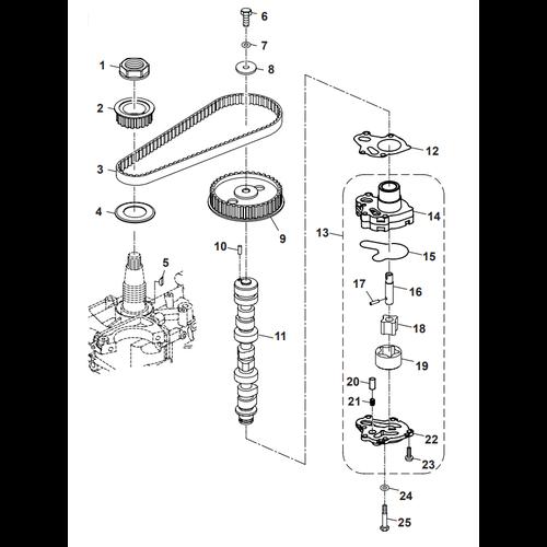 Parsun Buitenboordmotor F40 Oil Pump Onderdelen