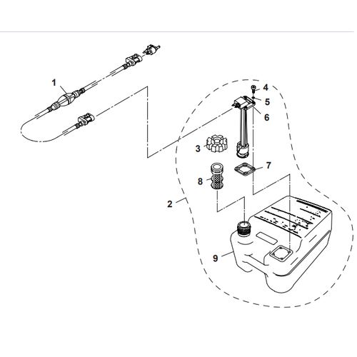 Parsun Buitenboordmotor F40 Outer Fuel Tank  Onderdelen