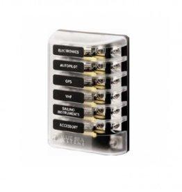 Blue Sea Zekeringen box AGC/CDM 6 circuits