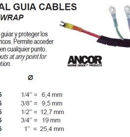 Zwart spiraal plastic om kabel netjes weg te werken per 1 m