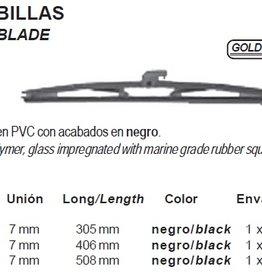 Wisserblad 305 t/m 508 mm zwart