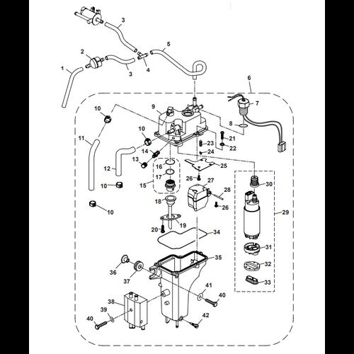 Parsun Buitenboordmotor F40 Electric Oil Pump  Onderdelen
