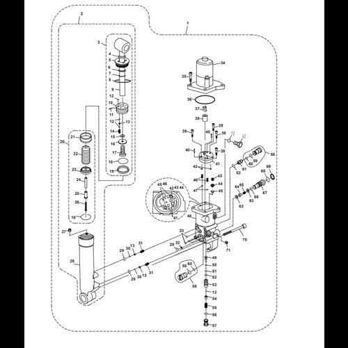 Parsun Buitenboordmotor F40  Power Trim & Tilt Onderdelen