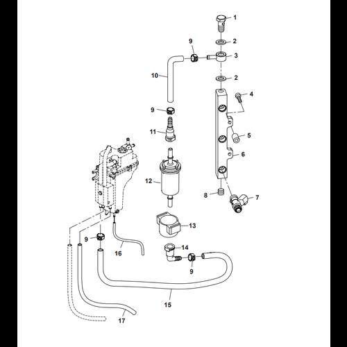 Parsun Buitenboordmotor F40 Fuel Common Rail Onderdelen
