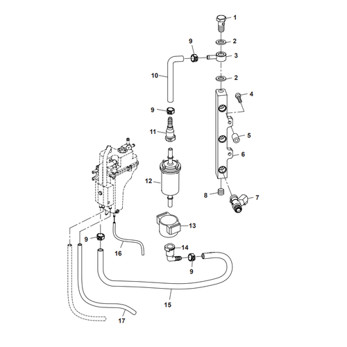 Parsun Outboard Engine F40 Fuel Common Rail Parts