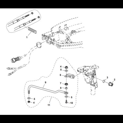 Parsun Buitenboordmotor F50 & F60 Link Rod Onderdelen