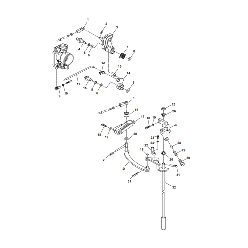 Parsun Buitenboordmotor F50 & F60 Control System Onderdelen