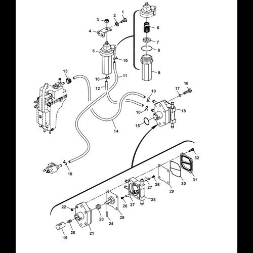 Parsun Buitenboordmotor F50 & F60 Fuel System Onderdelen