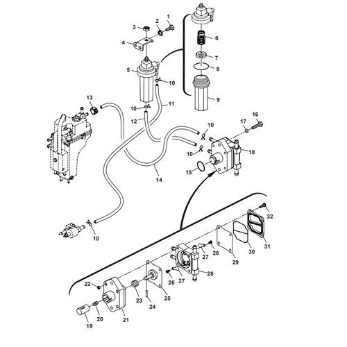 Parsun Outboard Engine F50 & F60 Fuel System Parts