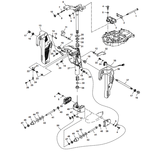 Parsun Outboard Engine F50 & F60 Bracket Parts