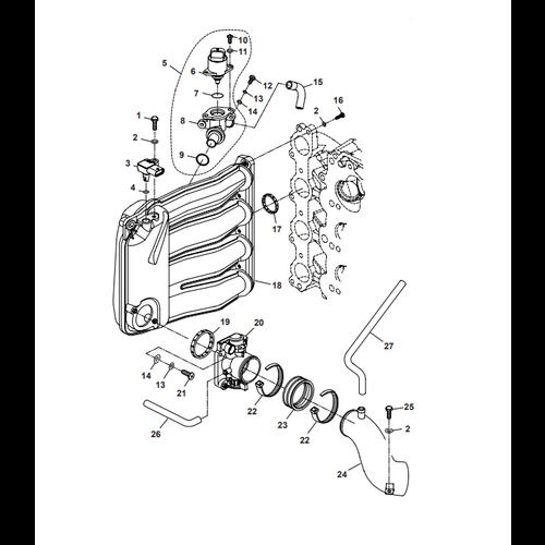 Parsun Buitenboordmotor F50 & F60 Intake Onderdelen