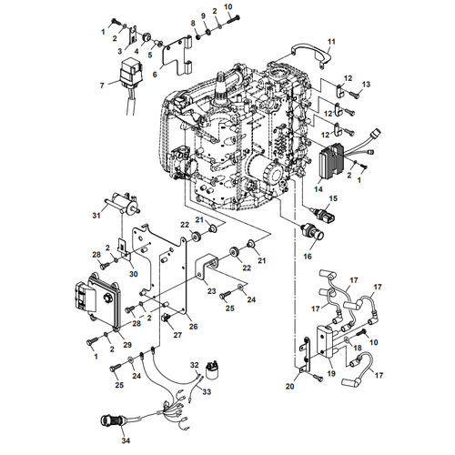 Parsun Buitenboordmotor F50 & F60 Electrical 3 Onderdelen