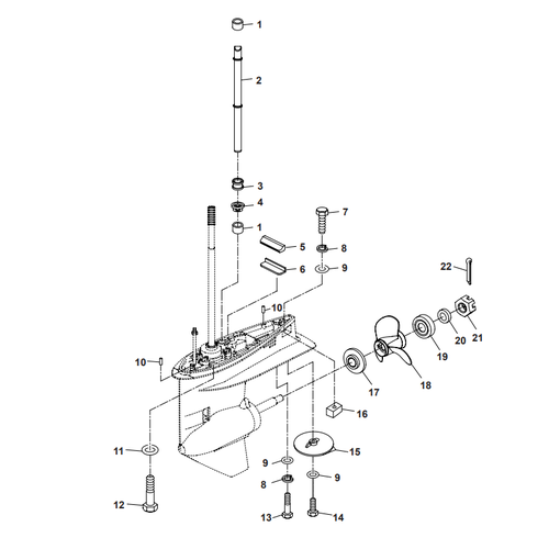 Parsun Outboard Engine F50 & F60 Lower Casing & Drive 2 Parts