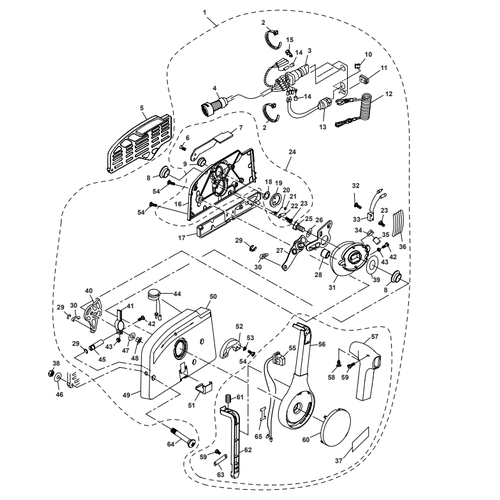 Parsun Buitenboordmotor F50 & F60 Control Box Assy Onderdelen