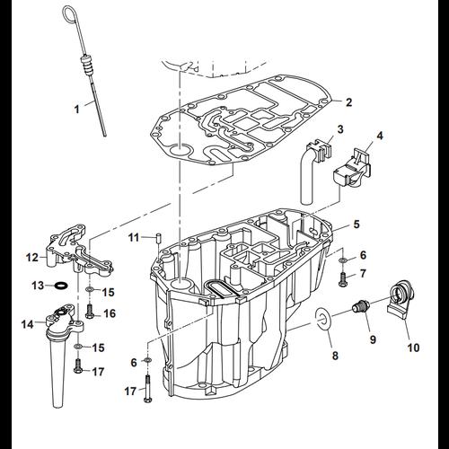 Parsun Buitenboordmotor F50 & F60 Oil Pan Onderdelen