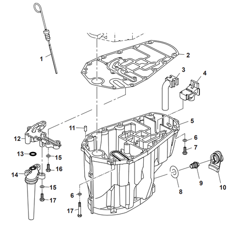 Parsun Outboard Engine F50 & F60 Oil Pan Parts