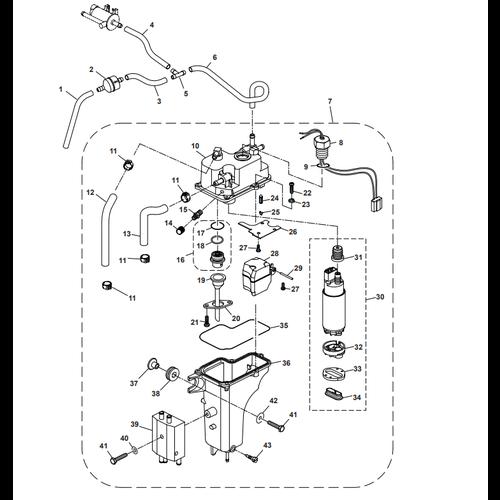 Parsun Buitenboordmotor F50 & F60 Electric Oil Pump Onderdelen