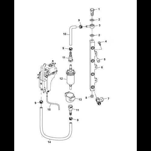 Parsun Buitenboordmotor F50 & F60 Fuel Common Rail Onderdelen