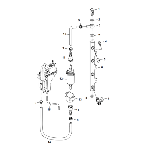 Parsun Outboard Engine F50 & F60 Fuel Common Rail Parts