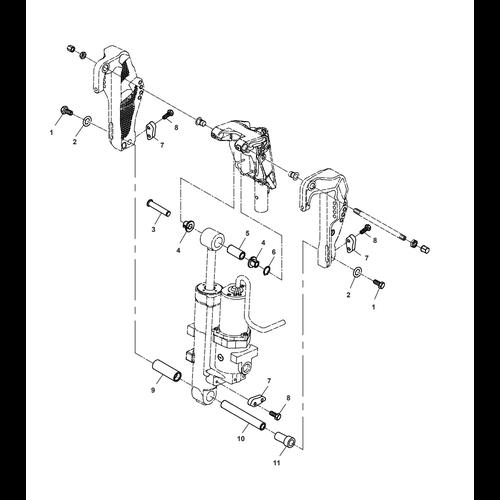 Parsun Buitenboordmotor F50 & F60 Hydraulic Tilt 1 Onderdelen