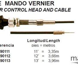 Pretech VERNIER CONTROL HEAD AND CABLE maxflex