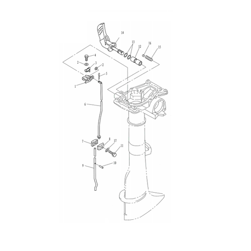 Yamaha / Parsun Outboard Engine F2.5 / F2.6 Control Parts