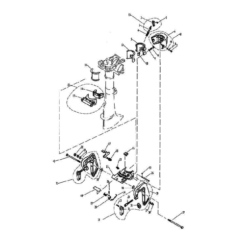 Yamaha/Parsun Buitenboordmotor F2.5/F2.6 Bracket Onderdelen