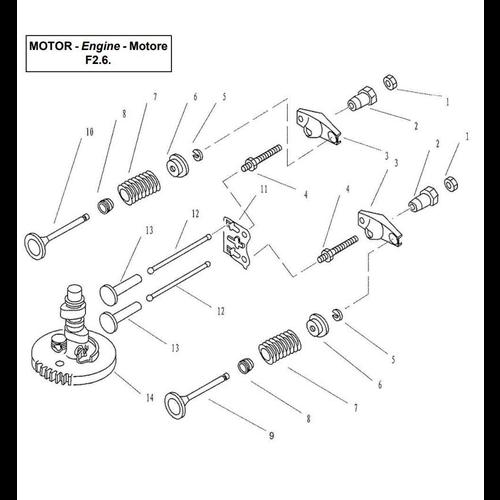 Yamaha/Parsun Buitenboordmotor F2.5/F2.6 Camshaft & Valve Onderdelen