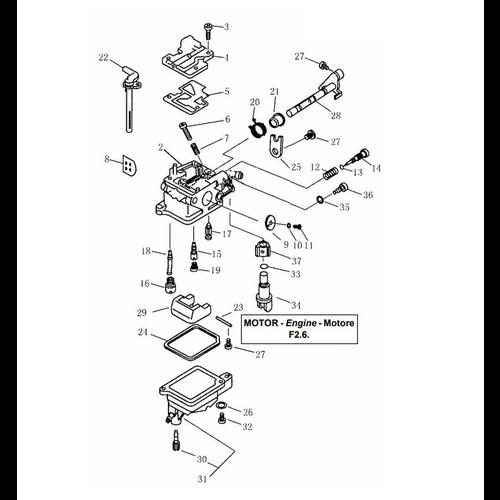Yamaha / Parsun Outboard Engine F2.5 / F2.6 Carburetor Parts