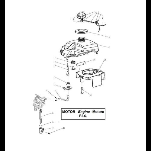 Yamaha/Parsun Buitenboordmotor F2.5/F2.6 Fuel Onderdelen