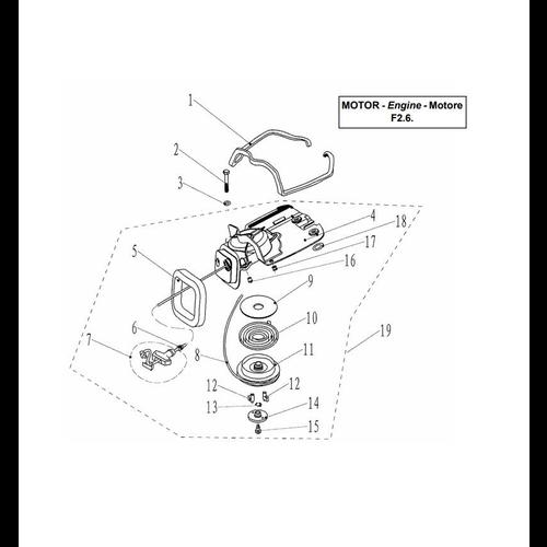 Yamaha/Parsun Buitenboordmotor F2.5/F2.6 Starter Assy Onderdelen