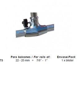 Railing flagpole socket / foot