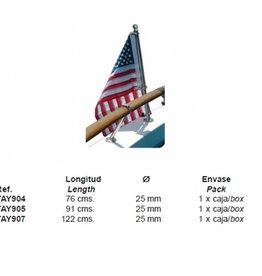 Stainless steel flagpole