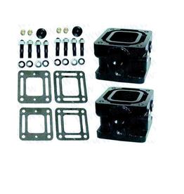 "Mercruiser Riser Kit 3"" Elbow Raiser MCM 76 mm. (93320A13, 807476A6, 93320A5,93320A3)"