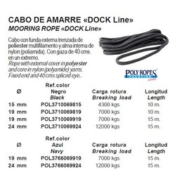 Poly ropes Dockline 19 Mm Navy (15 M) (POL3766069919)