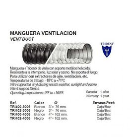 Trident Ventilatie slang/pijp Temp. -18 ºC tot 71 ºC per doos van 15 meter