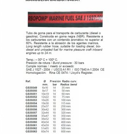 Brandstofslang (vuur bestendig) 6 tot 74 mm per 1 m