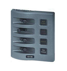 Blue Systems WATERPROOF Switch panel 4 or 6 switches white / gray