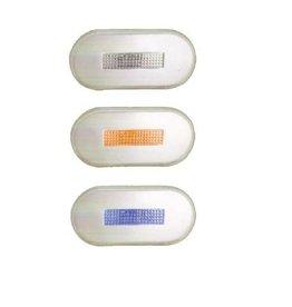 LED verlichting gekleurd kapje oranje, blauw of wit