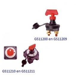 Enkelpolige batterij/accu hoofd schakelaar (klik hier voor omschrijvingen)